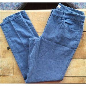 Ann Taylor Loft Julie Linen Blend Pants
